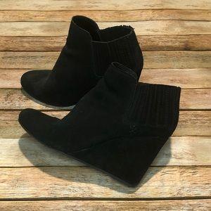 Dolce Vita black wedge booties